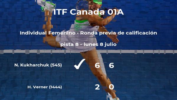 Nika Kukharchuk vence a la tenista Holly Verner en la ronda previa de calificación