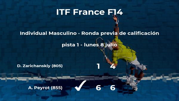 Alexandre Peyrot consigue vencer en la ronda previa de calificación a costa de Daniil Zarichanskiy