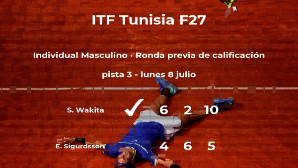 El tenista Shunsuke Wakita consigue la plaza para la siguiente fase tras vencer en la ronda previa de calificación