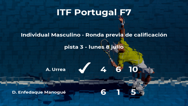 David Enfedaque Manogué, eliminado del torneo de Idanha-A-Nova