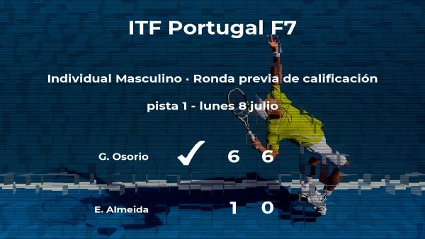 El tenista Guilherme Wojciechowski Osorio logra vencer en la ronda previa de calificación a costa del tenista Eduardo Lobo Da Rosa de Almeida