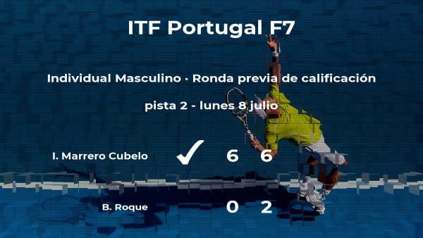 El tenista Iván Marrero Cubelo gana en la ronda previa de calificación del torneo de Idanha-A-Nova