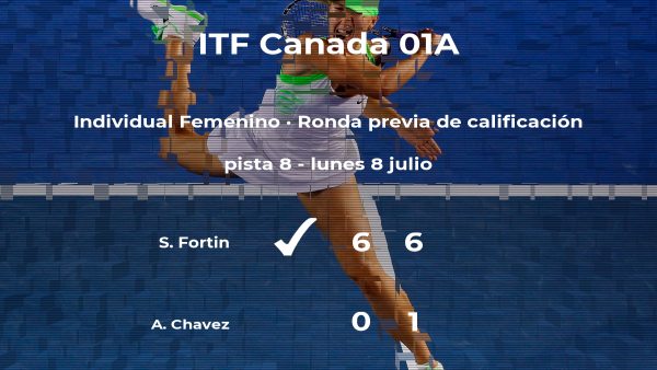 Sarah-Maude Fortin vence en la ronda previa de calificación del torneo de Saskatoon