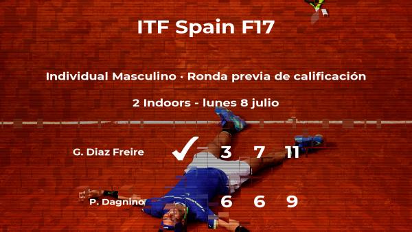 El tenista Gabriel Diaz Freire gana en la ronda previa de calificación del torneo de Getxo