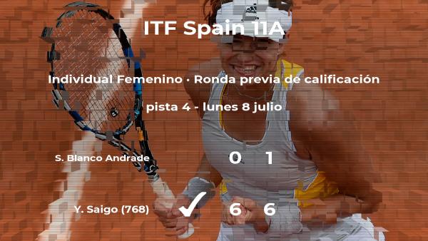 La tenista Sofia Blanco Andrade se despide del torneo de Getxo