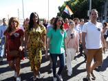 Dirigentes de Ciudadanos en la fiesta del Orgullo.