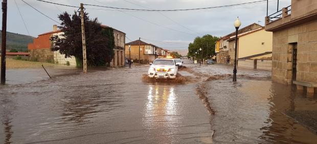 Daños causados por lluvias y granizadas en la provincia de Ourense.