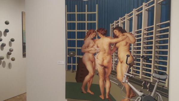 Una de las obras de la exposición 'Isabel Oliver. Cuarenta años de arte comprometido (1970-2009)',