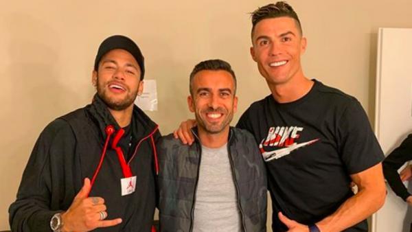 Neymar y Cristiano en Turin