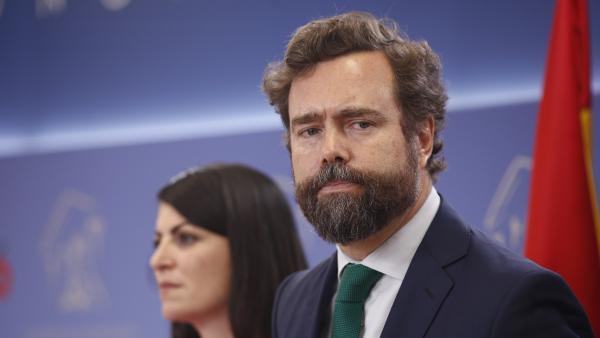 El portavoz del Grupo Parlamentario de VOX en el Congreso, Iván Espinosa de los Monteros.