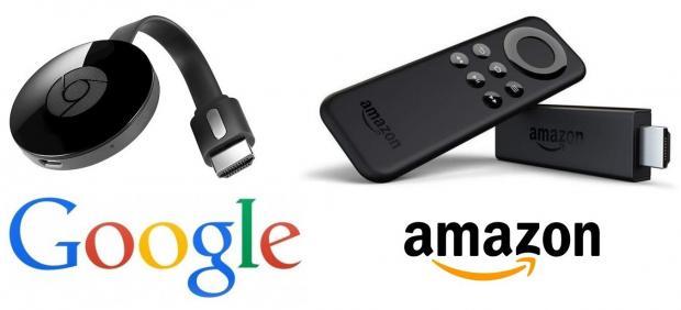 Los dispositivos Chromecast de Google y Amazon Fire Stick TV