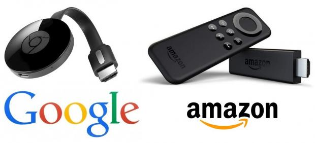 Los dispositivos Chromecast de Google y Amazon Fire Stick TV