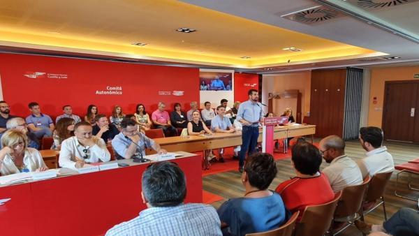Luis Tudanca en el Comité Autonómico del PSOECyL.