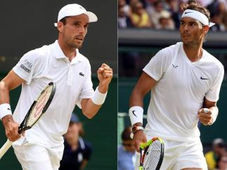 Roberto Bautista y Rafa Nadal