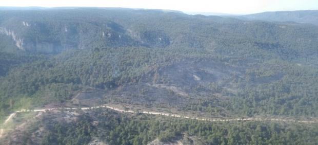 Incendio en Carrascosa de la Sierra.