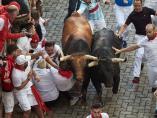 Quinto encierro de los Sanfermines 2019, con toros de Victoriano del Río.