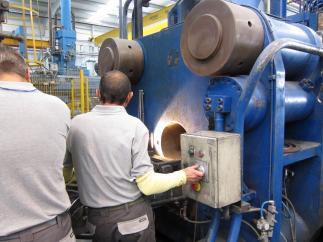 Una imagen en una fábrica.