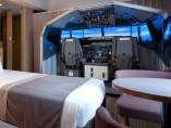 Habiación con simulador de vuelo en el hotel Haneda Excel de Tokio