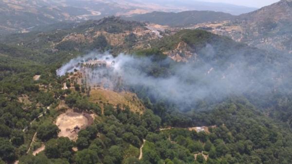 Incendio en Gaucín. Plan Infoca