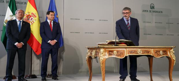 El Presidente De La Junta De Andalucía, Juanma Moreno, Preside La Toma De Posesión De Francisco Piniella Como Rector De La Universidad De Cádiz.