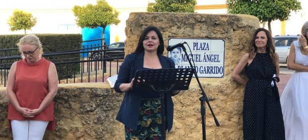 Virginia Pérez, en el acto homenaje a Miguel Ángel Blanco.