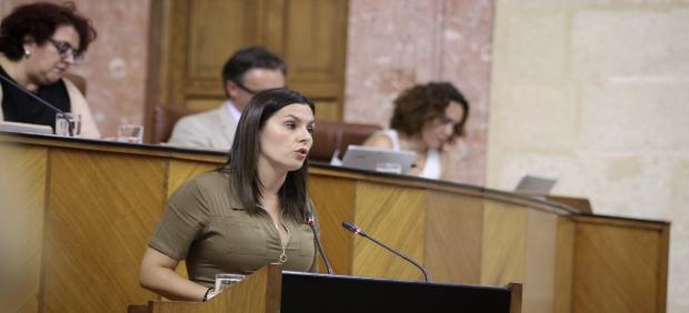 La parlamentaria andaluza Ángela Rodríguez (Cs) en la comisión