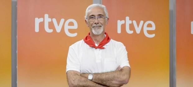 El presentador de los Sanfermines, Javier Solano.