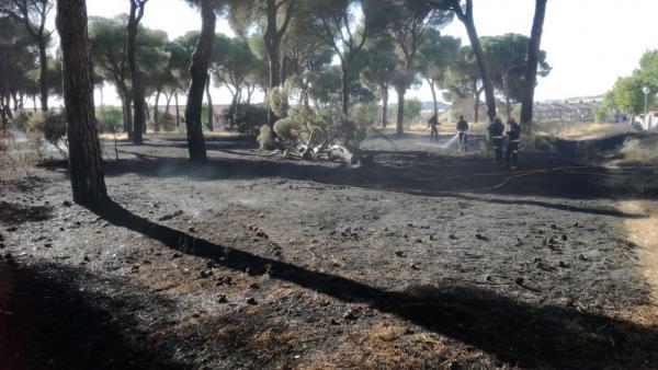 Fuego en Simancas (Valladolid).