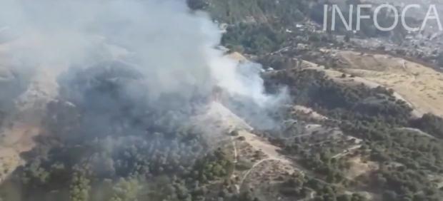 Incendio en el paraje de Sacromonte