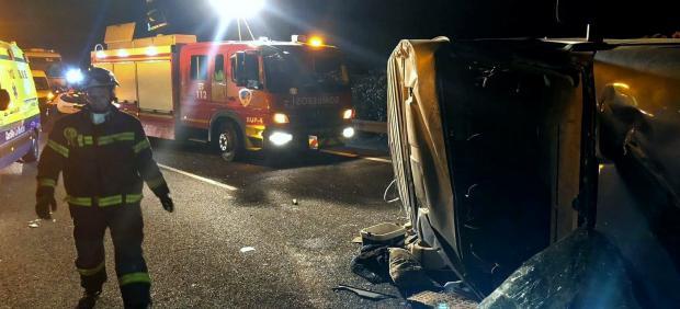 Accidente de tráfico en la A-31 a la altura de Montalvos.