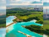 Este lago cristalino de Novosibirsk, Rusia, en realidad es un estanque tóxico formado por los residuos de una central eléctrica