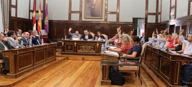 Pleno en la Diputación de Guadalajara.