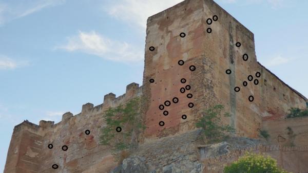 Nidos de vencejos en la Torre de los Pozos de Cáceres