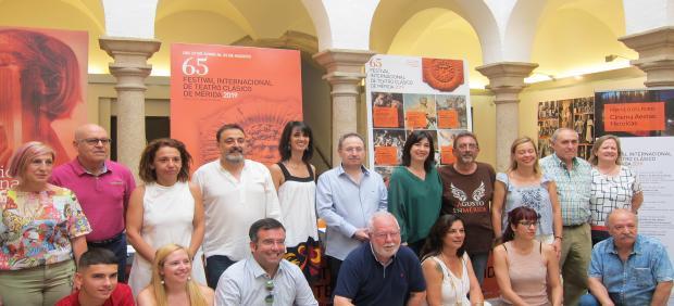 Presentación de la exposición 'Figurantes' del Festival Internacional de Teatro Clásico de Mérida