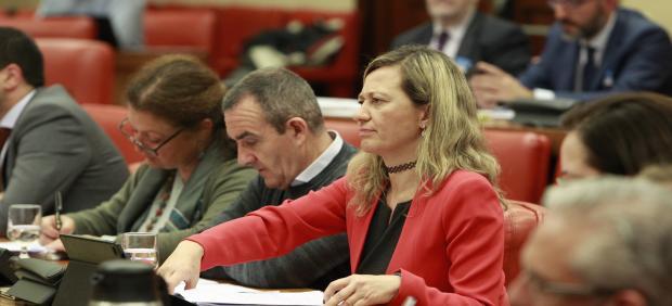 La juez de Podemos Victoria Rosell en la Comisión de Justicia en el Congreso