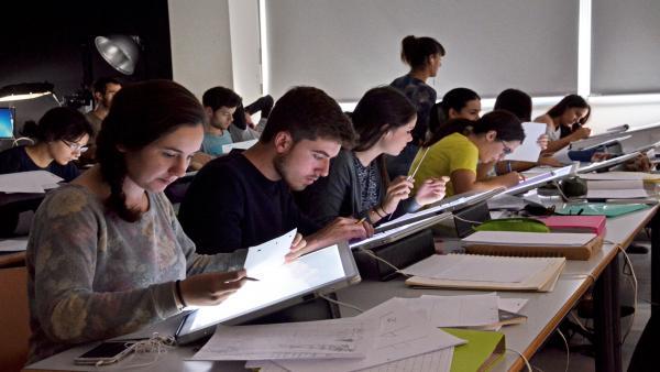 Imagen de archivo de universitarios