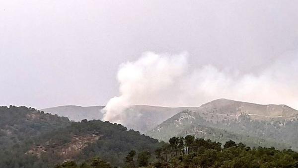 Columna de humo en El Barraco (Ávila).