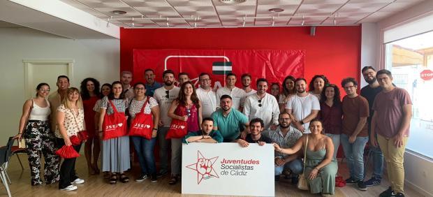 Miembros de las Juventudes Socialistas de la provincia de Cádiz