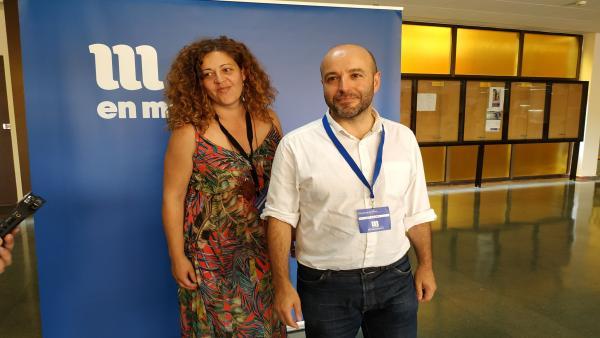 El portavoz y la viceportavoz de En Marea, Ana Seijas y Luís Villares.