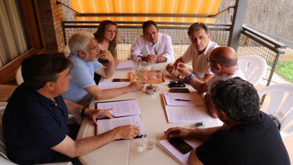 Reunión de representantes de Cs y de Teruel Existe.