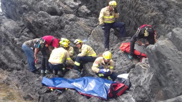 Rescate de un hombre herido