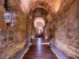 Interior del sitio de Melque