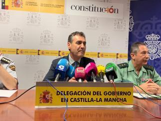 El delegado del Gobierno, Francisco Tierraseca, en rueda de prensa.