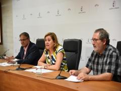 La consejera de Eduación, Cultura y Deportes, Rosa Ana Rodriguez, presneta las ayudas de las Ayudas a la Investigación del Patrimonio Arqueológico y Paleontológico de Castilla-La Mancha