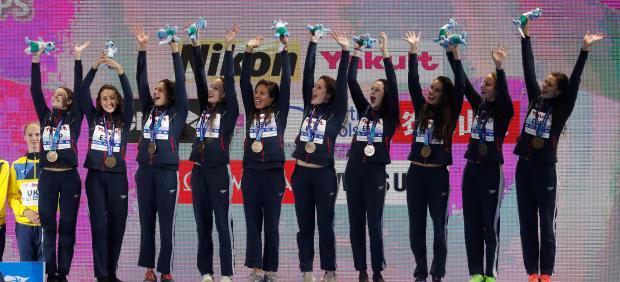 La natación artística española en el podio del Mundial de Gwangju