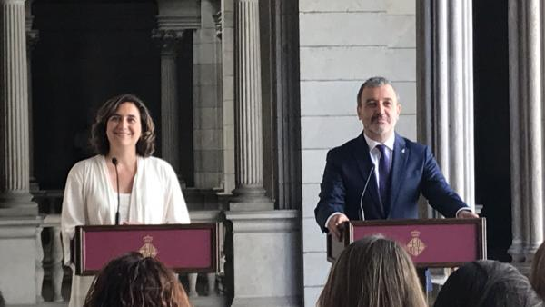 Ada Colau y Jaume Collboni. Foto de archivo