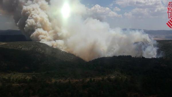 Incendio en Beneixama