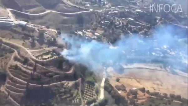 Magnitud del incendio y labores de extinción del del incendio de Terque