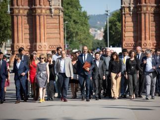 Torra, consellers y diputados de JxCat acompañan a Buch hasta el TSJC