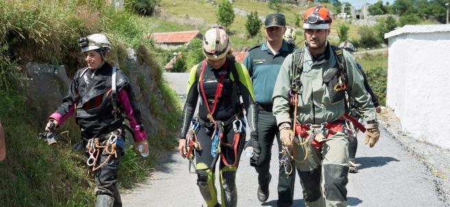 Rescate cueva Coventosa